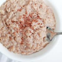 Chocolate Rice Pudding - a delicious take on classic rice pudding! Easy to make and perfect use for leftover rice!