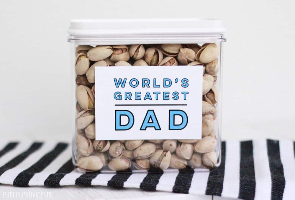 Father's Day Card Printable for gift cards, gift boxes, jars!