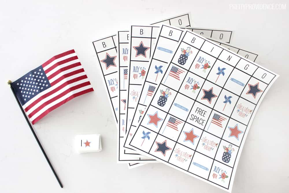 Free printable Fourth of July Bingo cards!