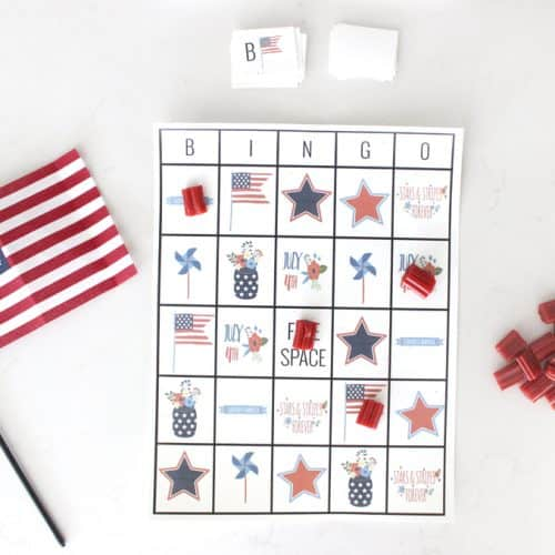 Fourth of July Printable Bingo Cards