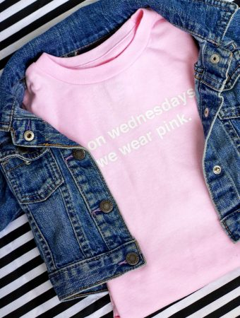 """On Wednesdays We Wear Pink"" Mean girls inspired t-shirt"