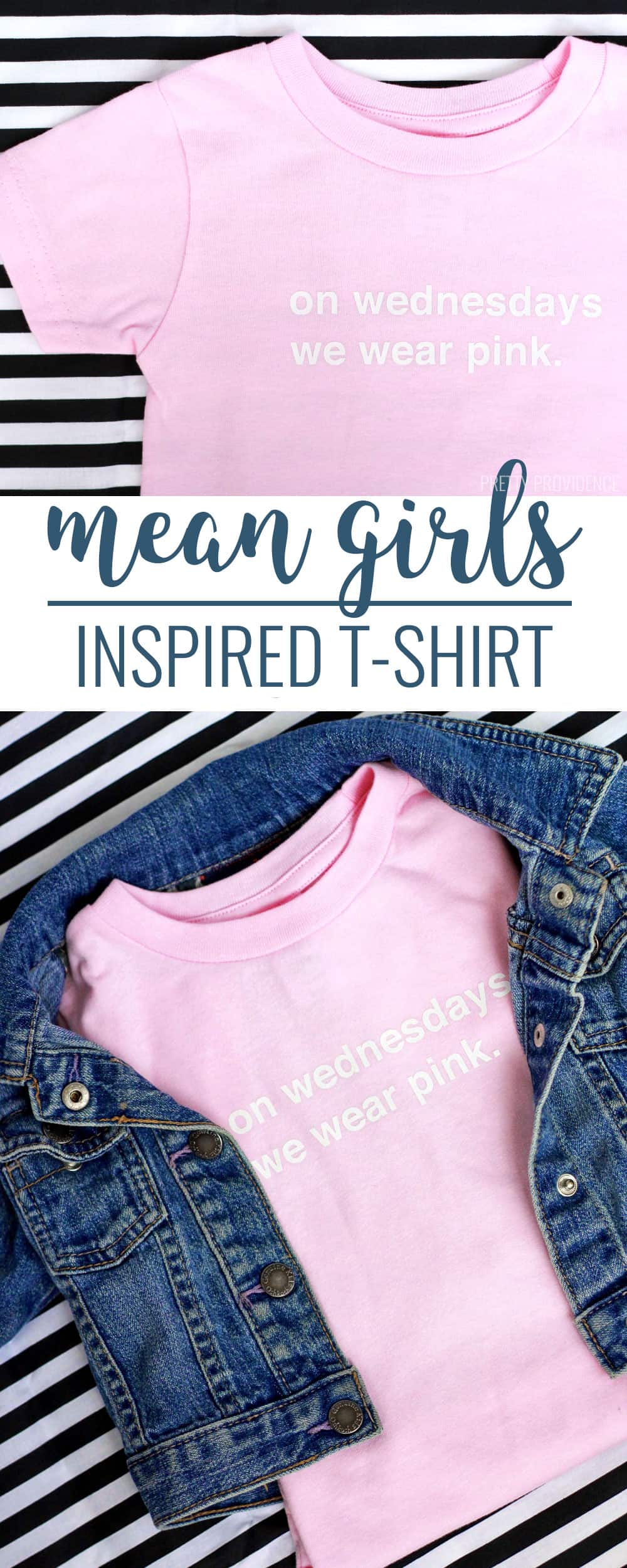"DIY ""On Wednesdays We Wear Pink"" Mean girls inspired t-shirt!"