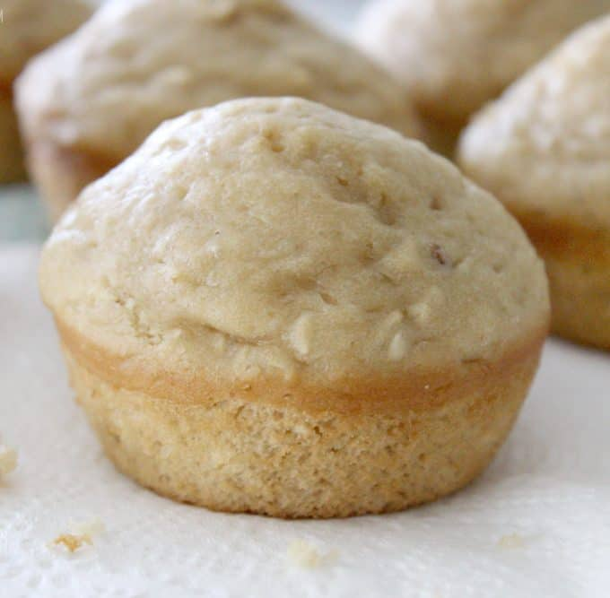 One Bowl Peanut Butter Muffins