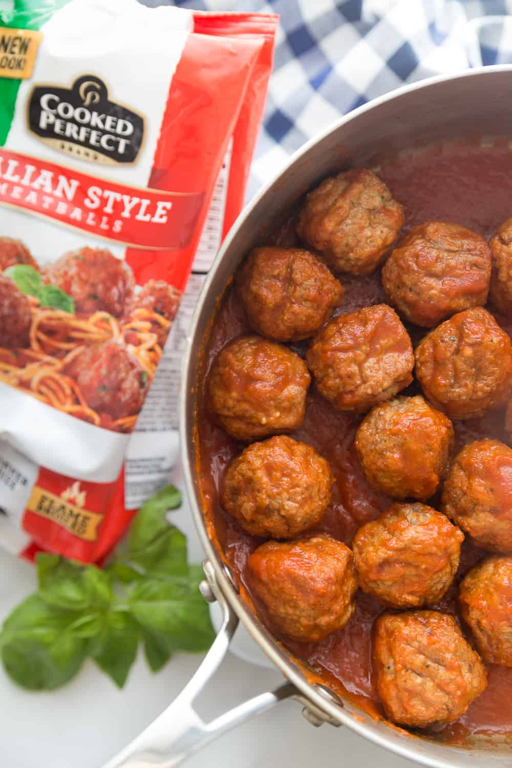 Cooked Perfect meatballs make the perfect easy appetizer!