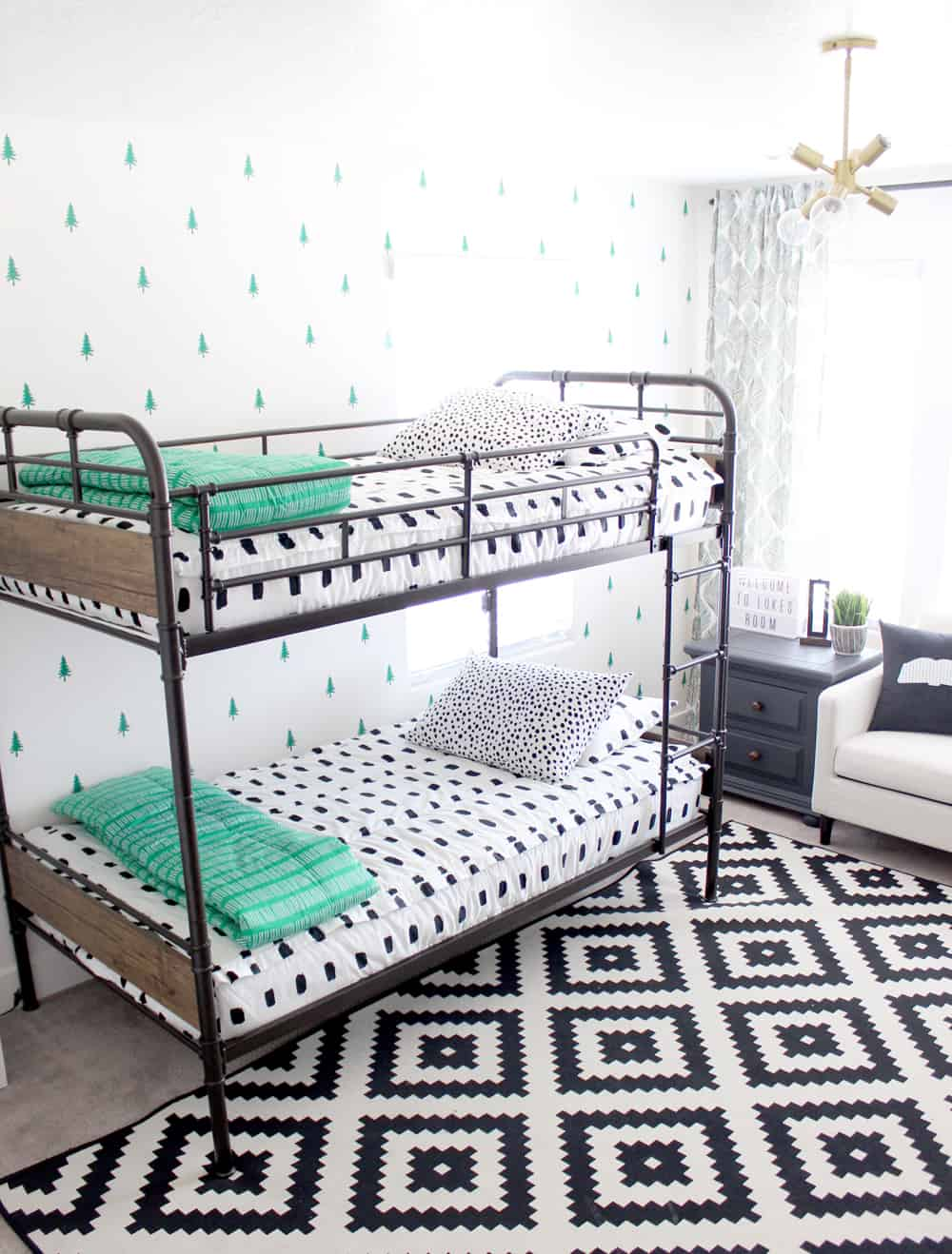 Super cute boy's bedroom set up!