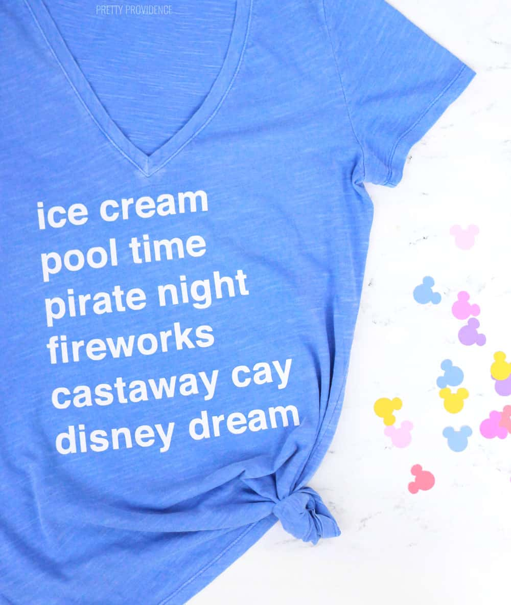 c3c7a7181 DIY T-Shirts for a Disney Cruise - Pretty Providence