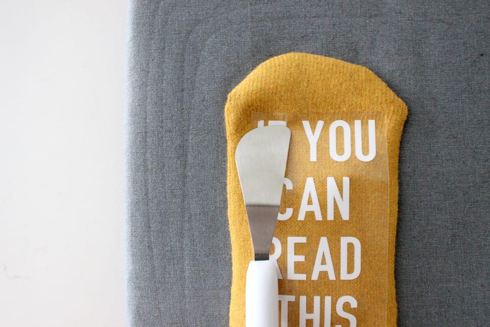 flatten letters to sock