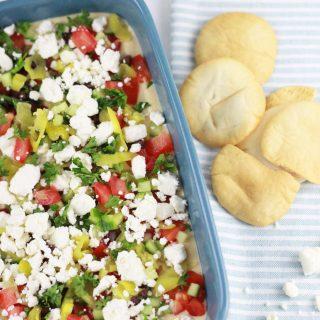 Healthy greek seven layer dip!