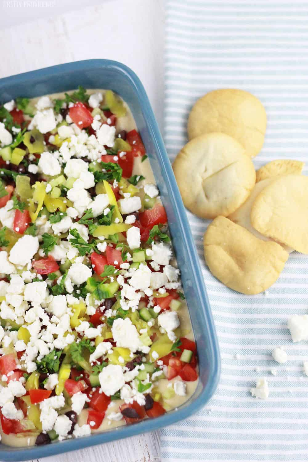 Healthy greek seven layer dip!