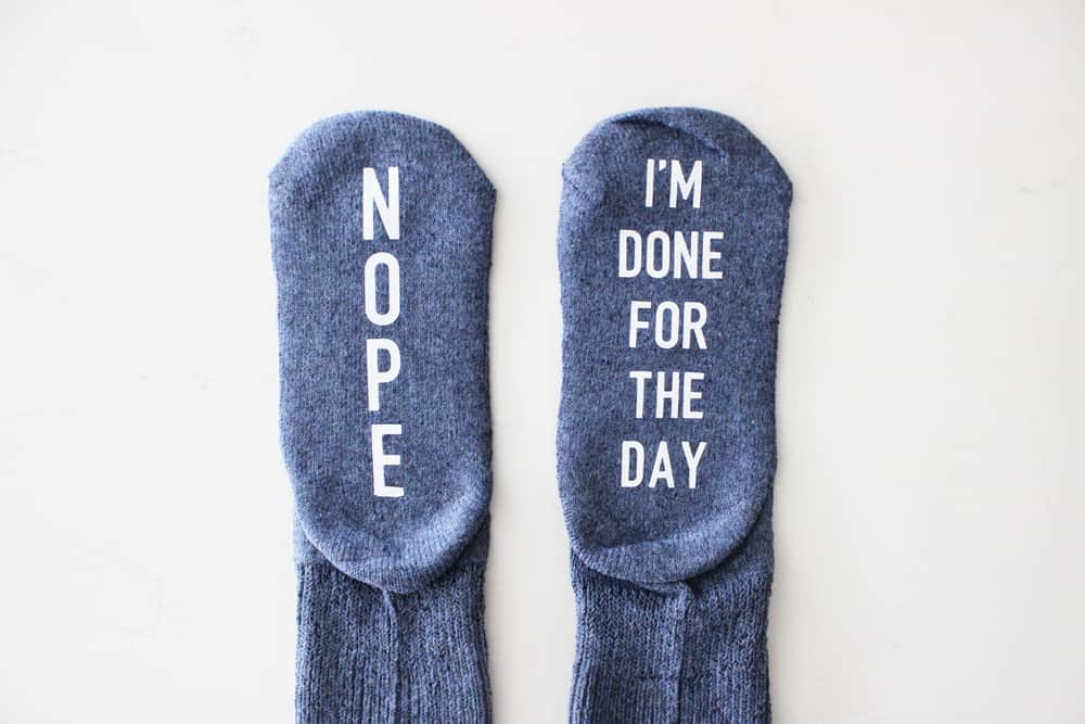 finished nope, i'm done for the day socks