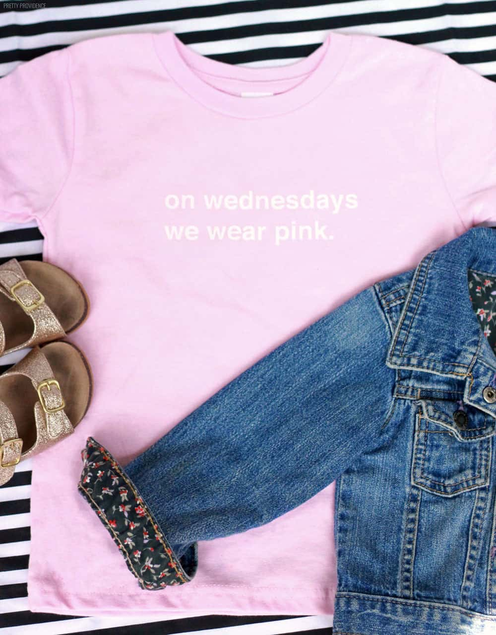 """On Wednesdays We Wear Pink"" toddler t-shirt! So fun"