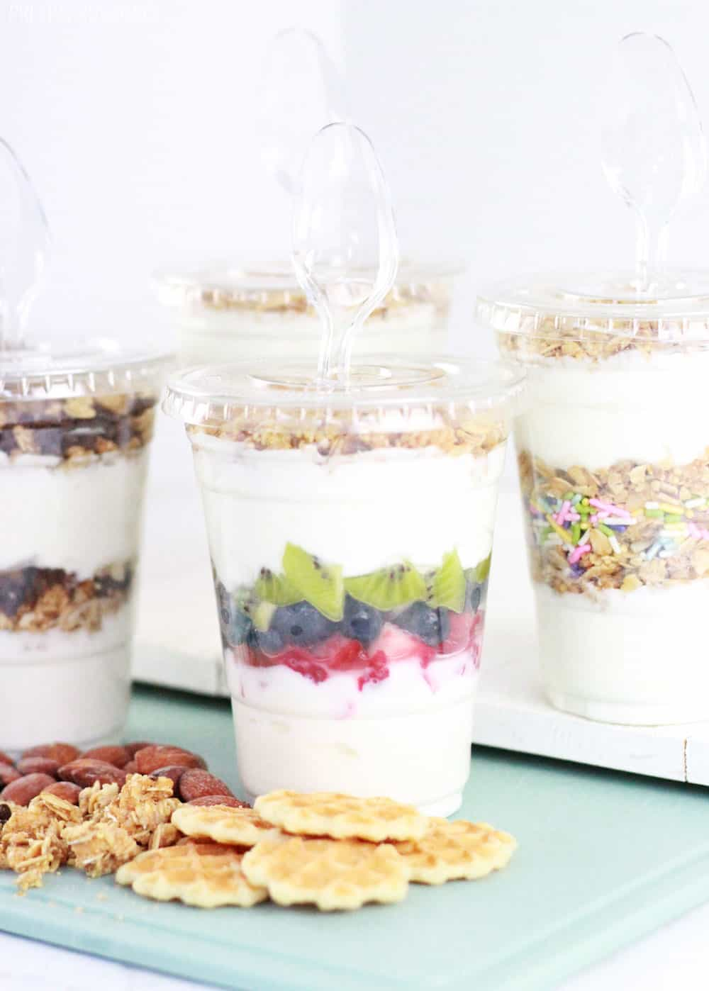 Yogurt parfaits to go.