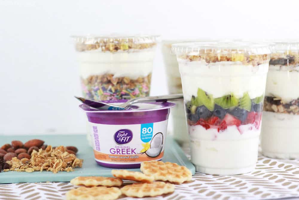 Greek yogurt parfaits are delicious and good for the whole fam!