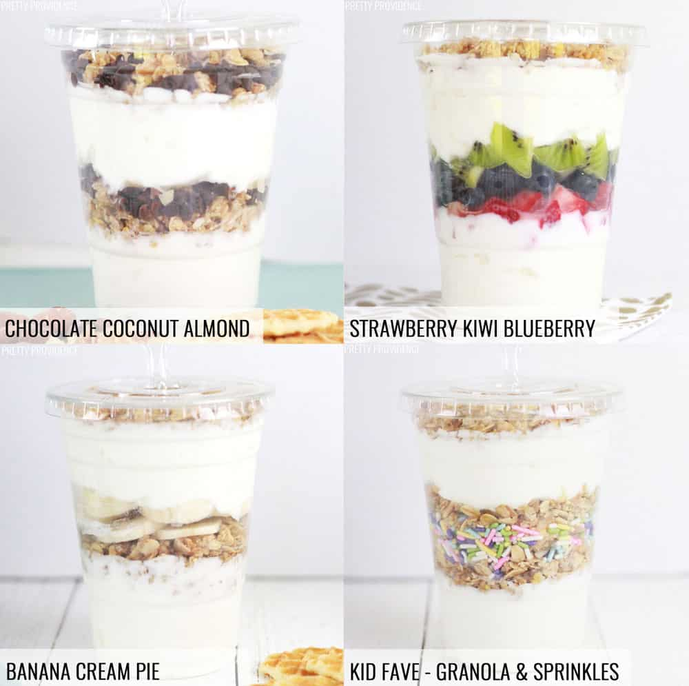 Yogurt Parfaits to go - 4 ways!