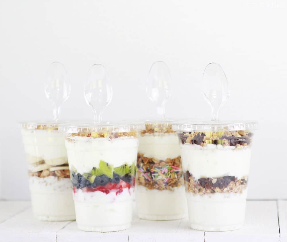 Yogurt parfaits to-go - for the whole family!