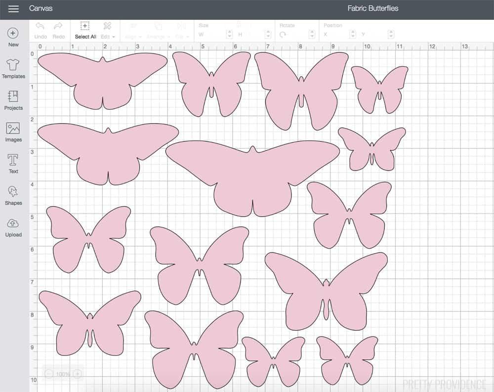 Fabric Butterflies with Cricut