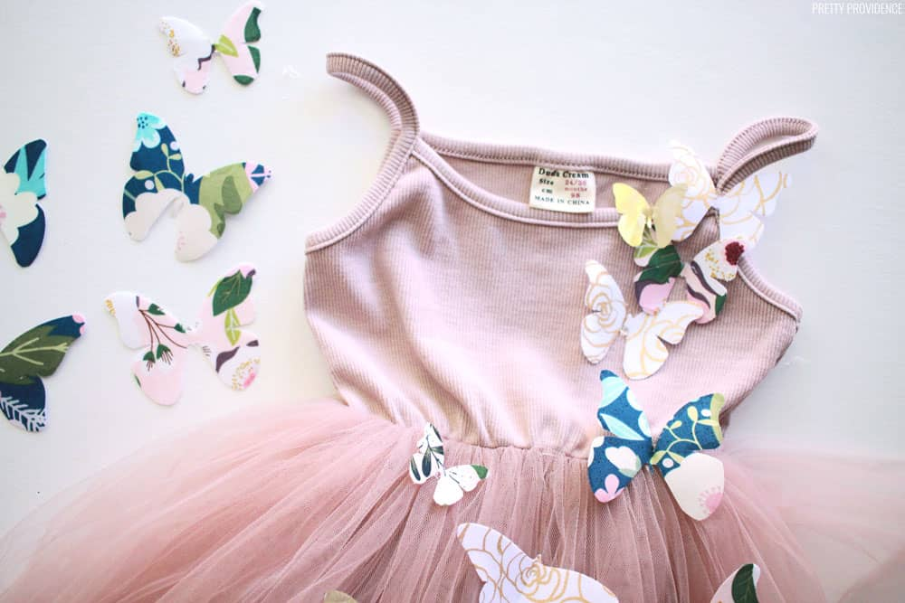 Fabric Butterfly Princess Dress with Cricut
