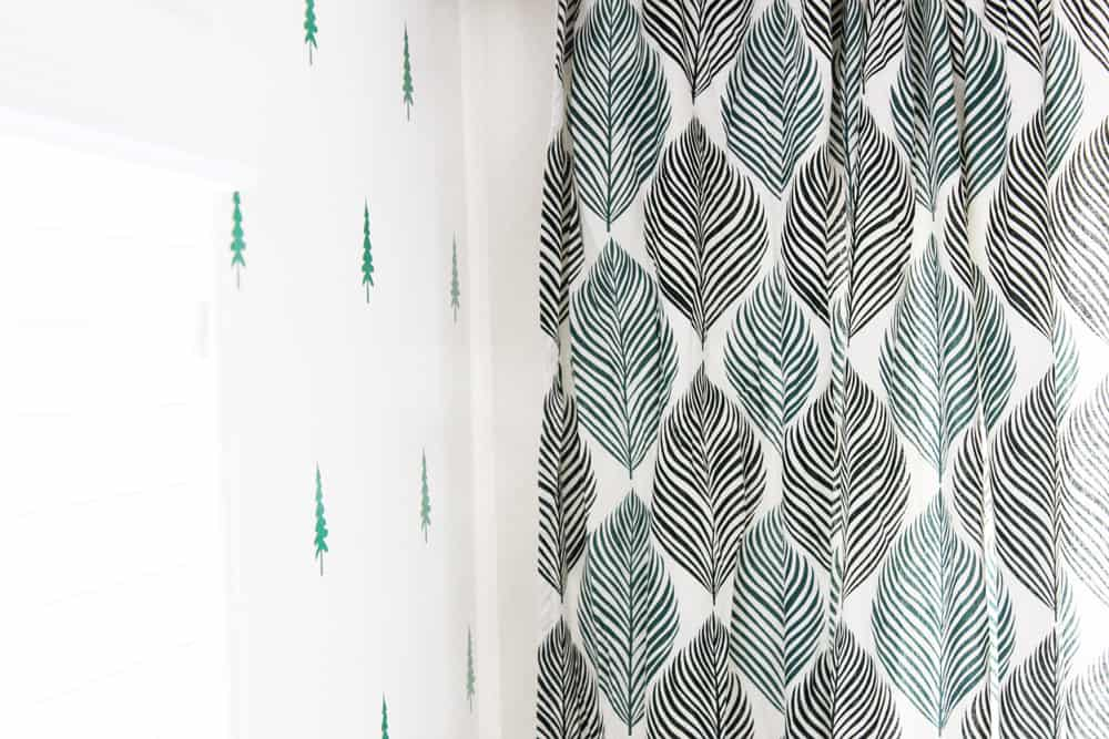 cute leafy curtains