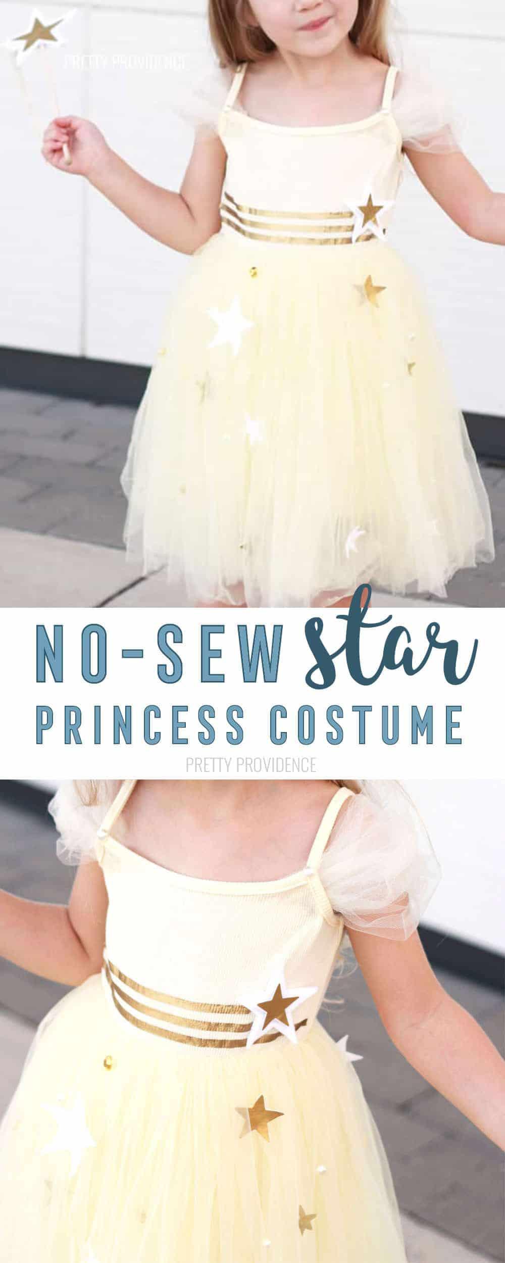 DIY Star Princess Costume! No Sew Princess Costumes for Halloween or Princess Camp!