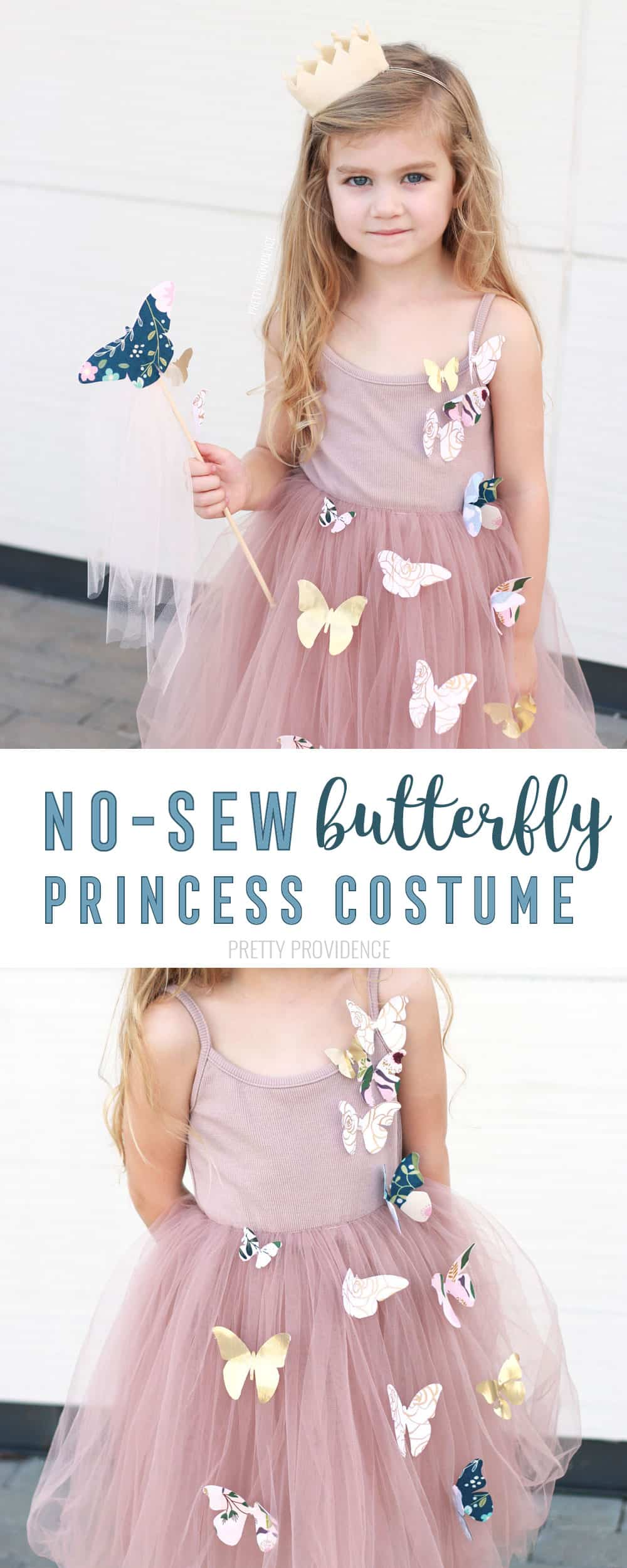 DIY Butterfly Princess Costume! No Sew Princess Costumes for Halloween or Princess Camp!