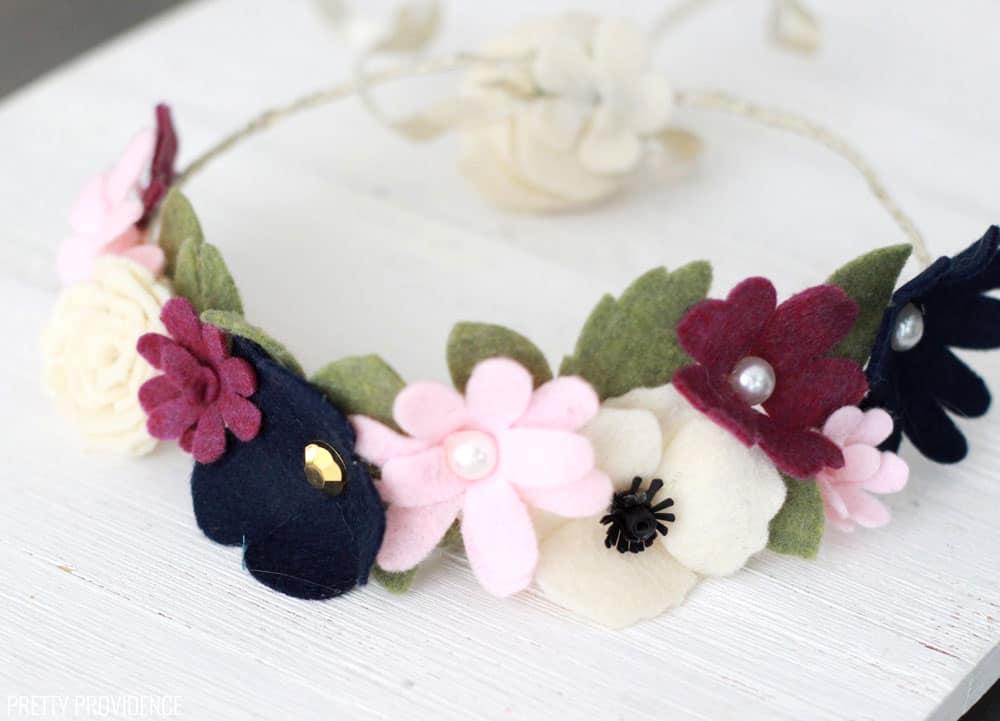 Easy Felt Flower Crown