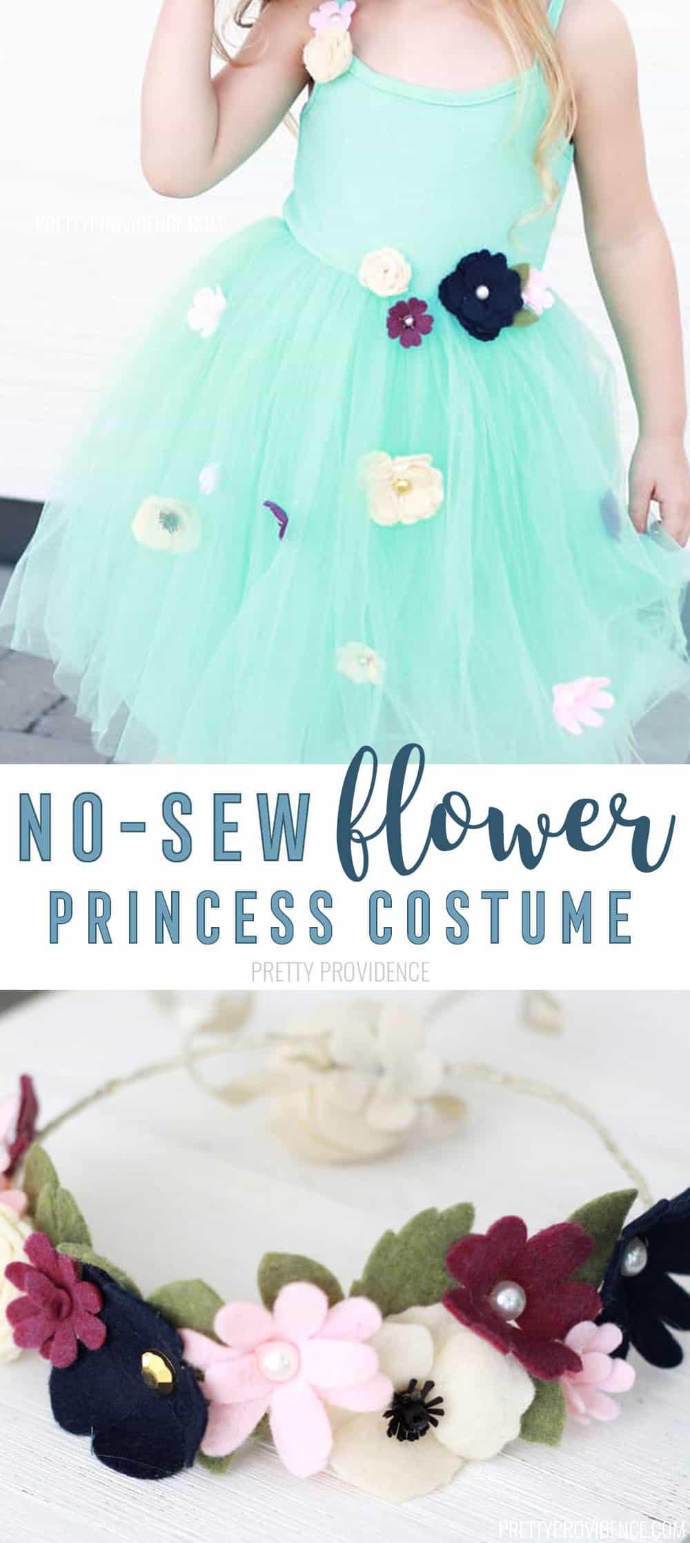 DIY Flower Princess Costume! No Sew Princess Costumes for Halloween or Princess Camp!
