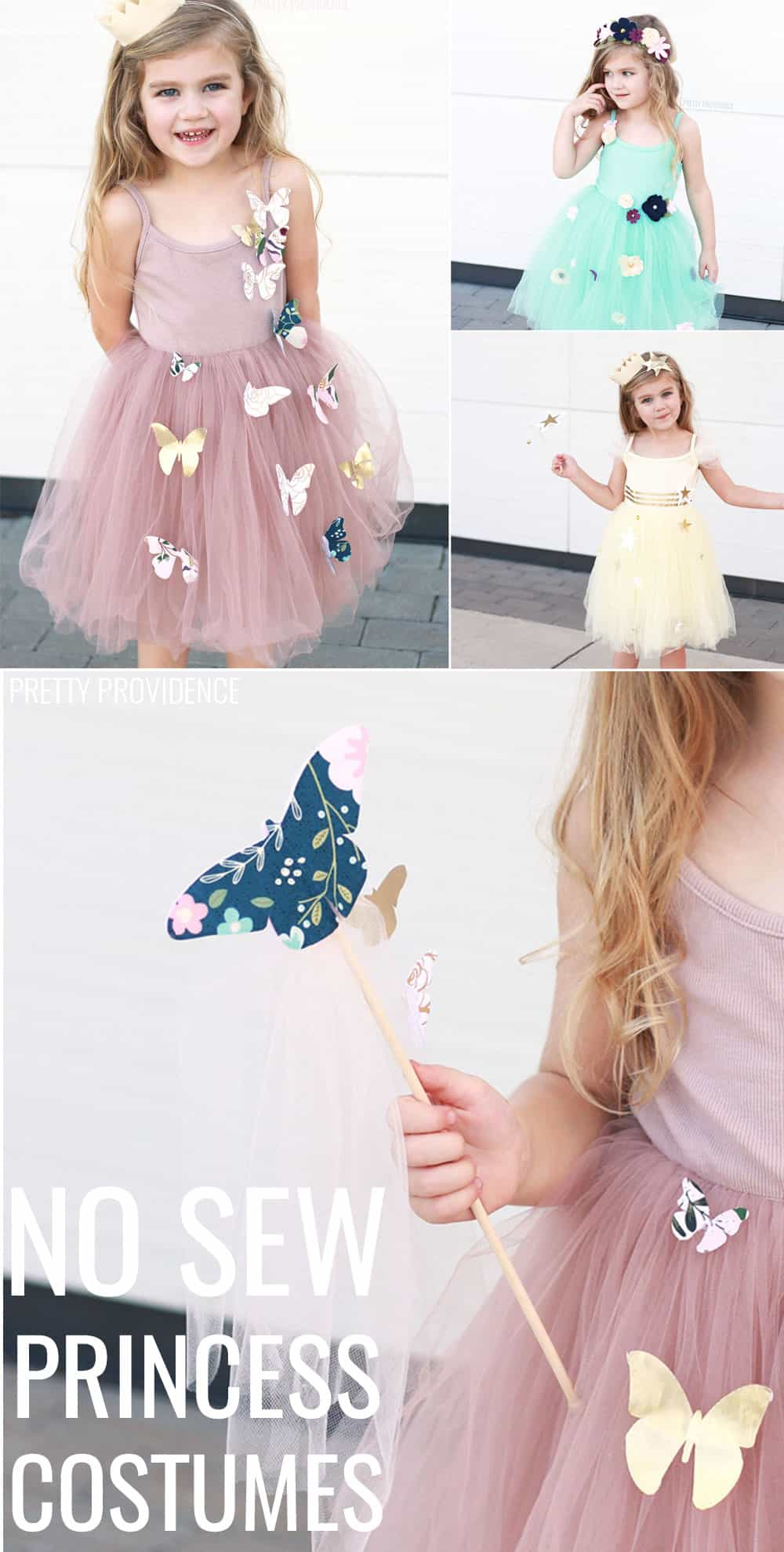 DIY No Sew Princess Costumes!!! So fun to make and the little ones love them!
