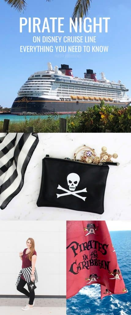 Everything you need to know about Pirate Night on Disney Cruise Line! Plus a tutorial for a DIY skull and crossbones clutch for your pirate costume!