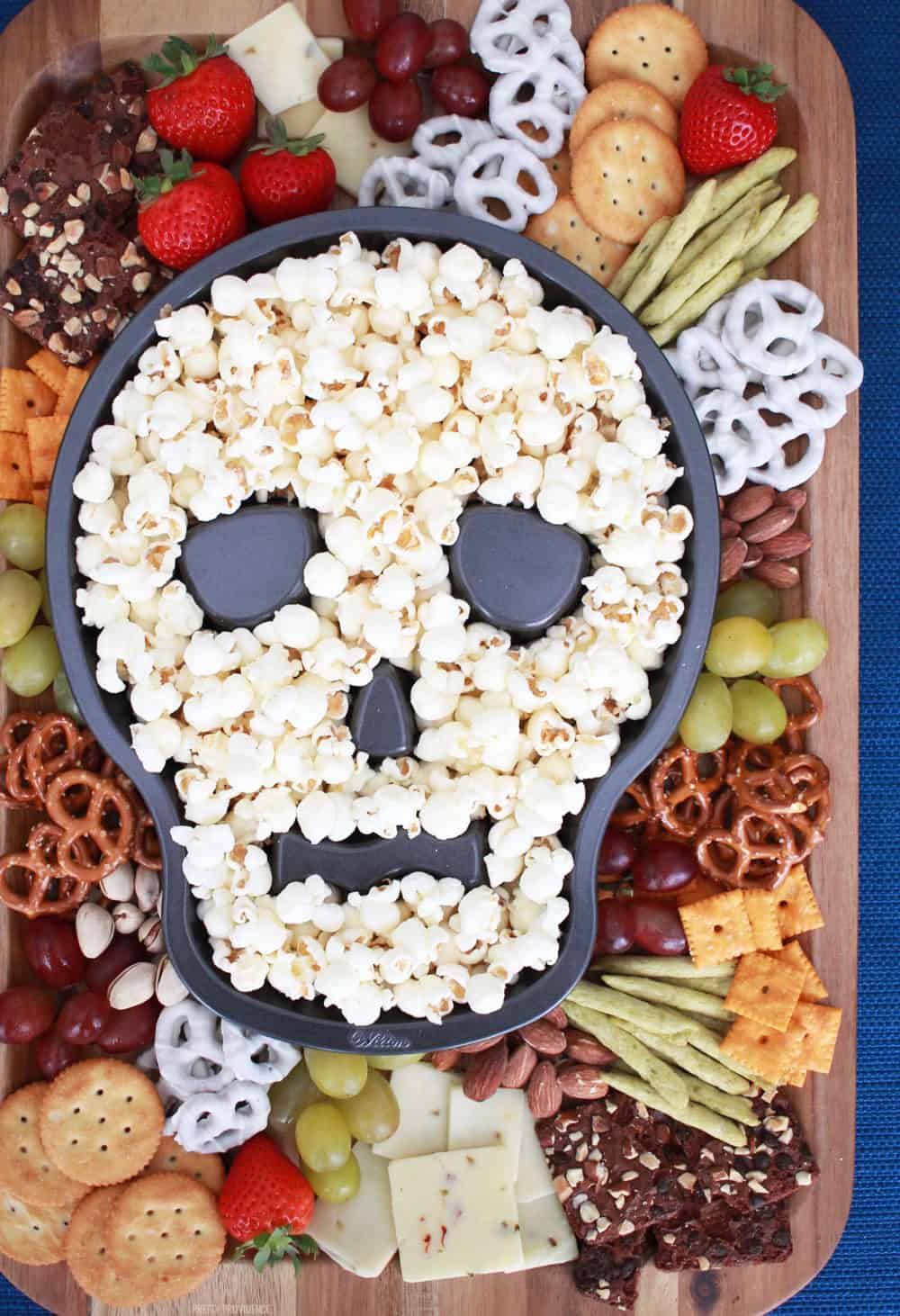 Halloween Party Snack Board with Sweet and Salty Snack Ideas!