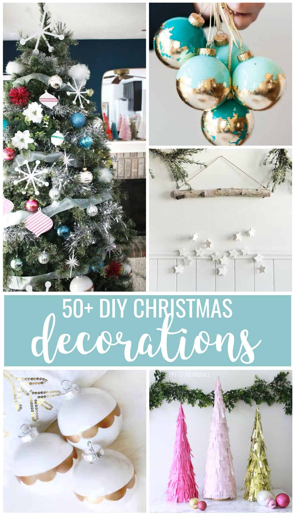 DIY Christmas decorations! So many good ideas for easy Christmas crafts from DIY Advent Calendars to homemade ornaments! #christmas #christmasideas #christmasornament #homemadeornaments #homemadechristmas #diychristmas #holidays #christmasdecor #christmastree