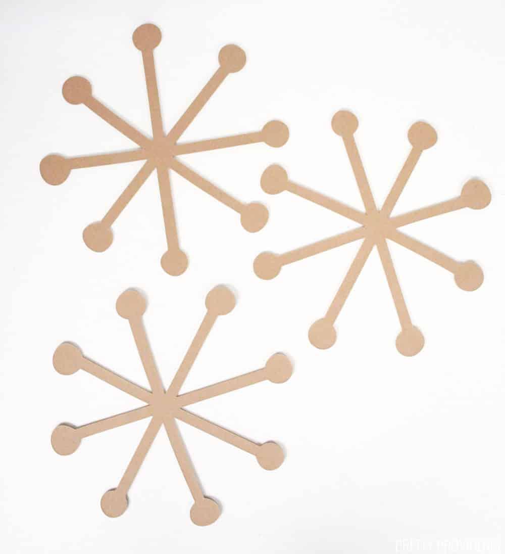 Homemade Christmas Snowflake Ornaments