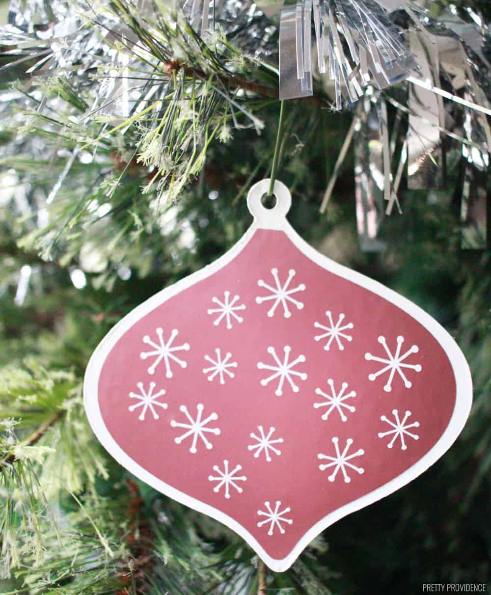 Homemade Christmas Ornament Retro Mid Century Modern Style