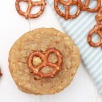 White Chocolate Oatmeal Pretzel Cookies
