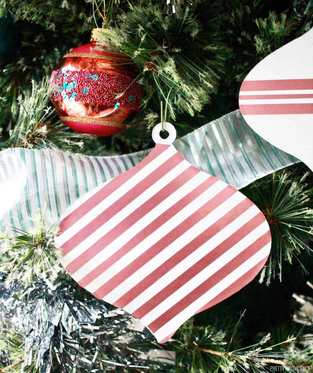 Homemade Christmas Ornaments - Candy Stripe