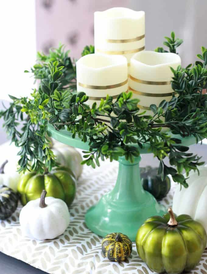Modern Centerpiece and Thanksgiving Table Decor