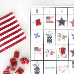 Printable Bingo 4th of July