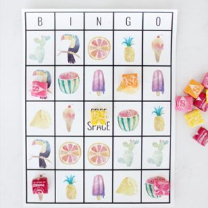 Free Printable Summer Bingo