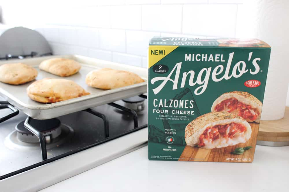 Michael Angelo's calzones, fresh from the oven.