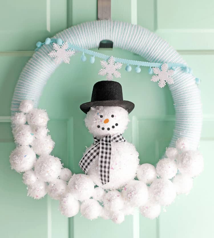 diy-winter-wreath-snowman