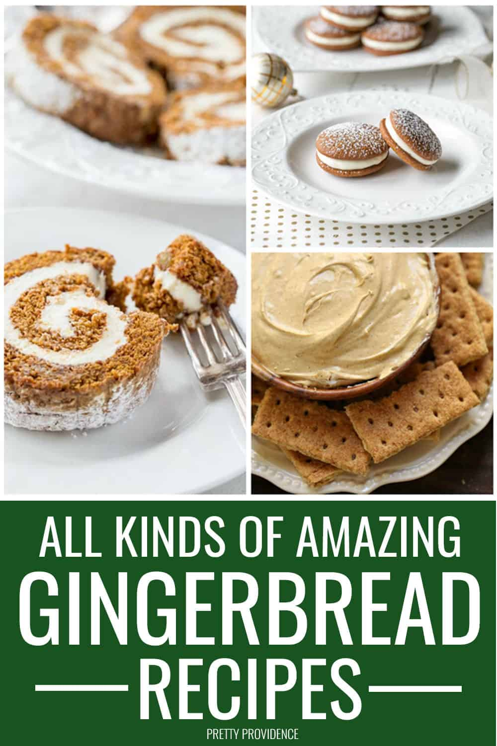 all kinds of amazing gingerbread recipes to try this Christmas season! No-bake gingerbread treats, gingerbread cookies, cakes and more! #gingerbread #christmas #recipes #gingerbreadrecipes #christmastreats #christmasrecipes #christmasfood #partyfood #festive #easyrecipe #recipeideas