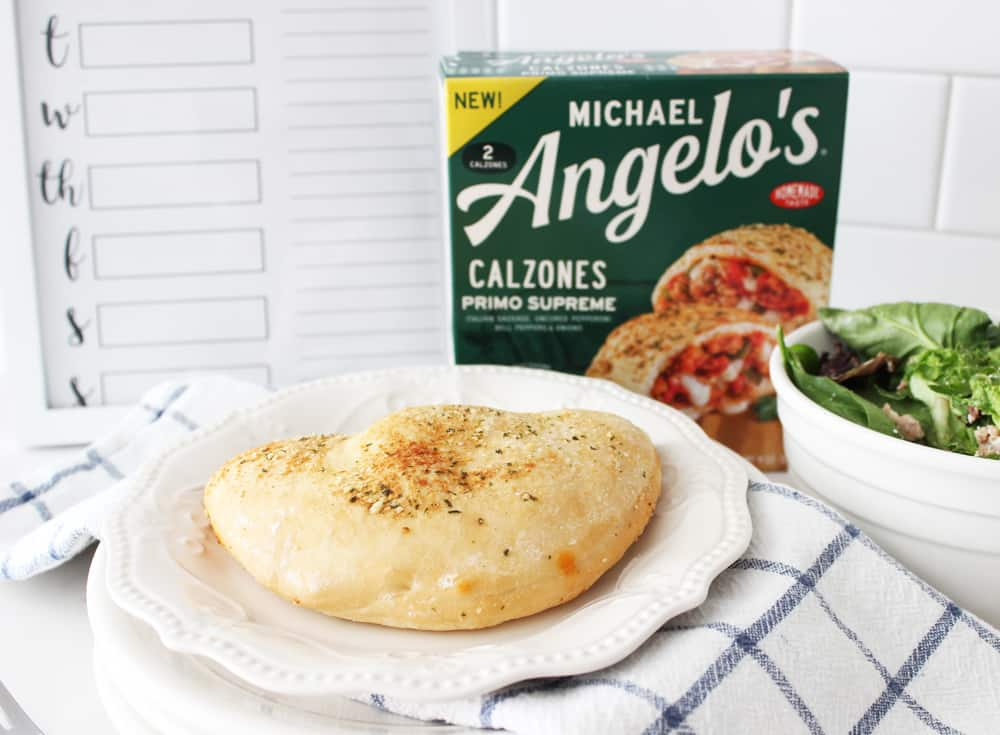Michael Angelo's calzones, fresh from the oven. With free menu printable!