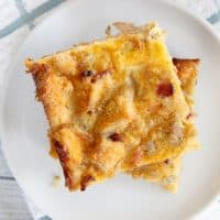 Prepare the night before, pop into the oven in the morning and enjoy breakfast heaven! This overnight breakfast casserole can't be beat!