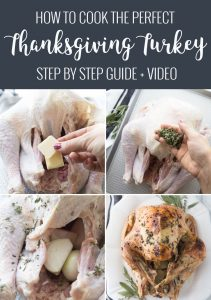 step by step collage for how to make a thanksgiving turkey
