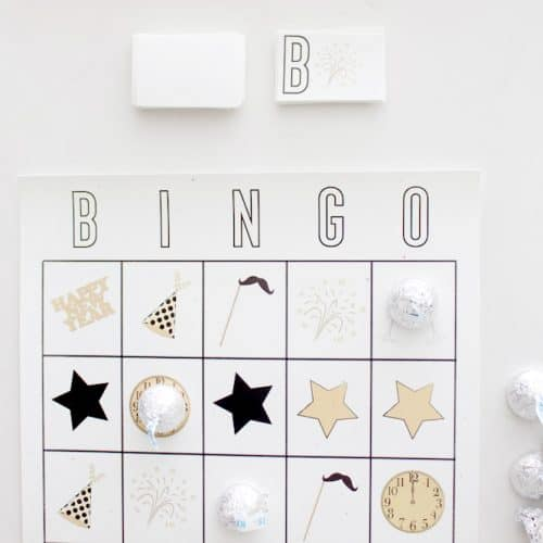 Free Printable New Years Eve Bingo