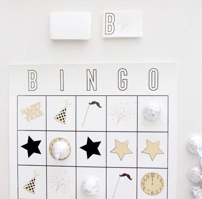 Free Printable New Years Eve Bingo