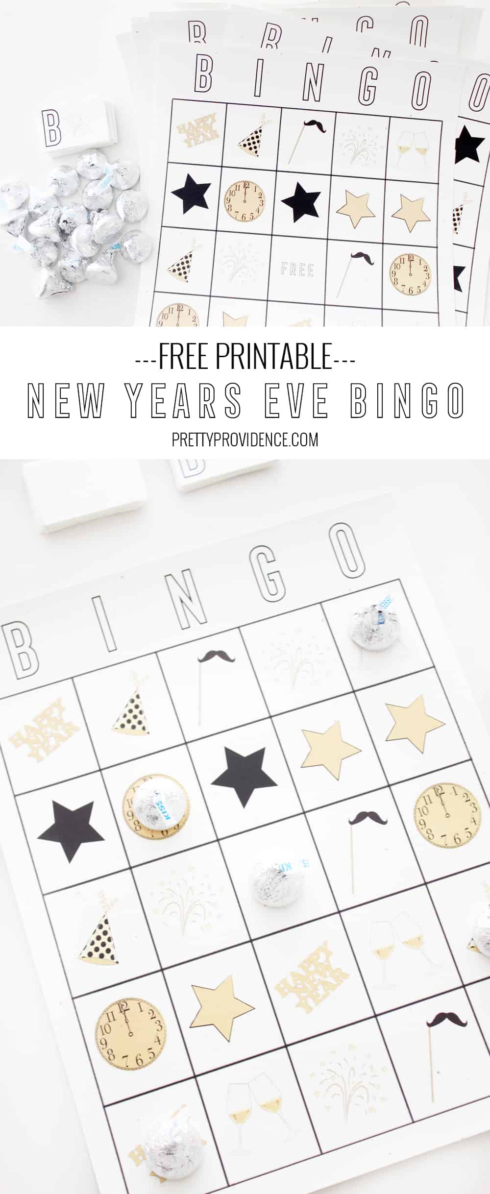 If you are looking for fun New Years Eve Games, look no further than this free printable New Years Eve Bingo!  Tons of fun for the whole family!