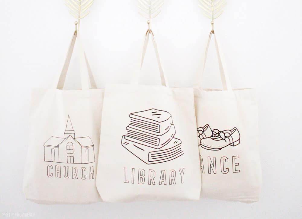 Canvas Tote Bags Customized with Cricut