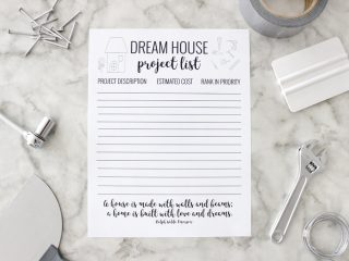 How fun is this dream house project list?! So fun to keep all your projects organized and prioritized!