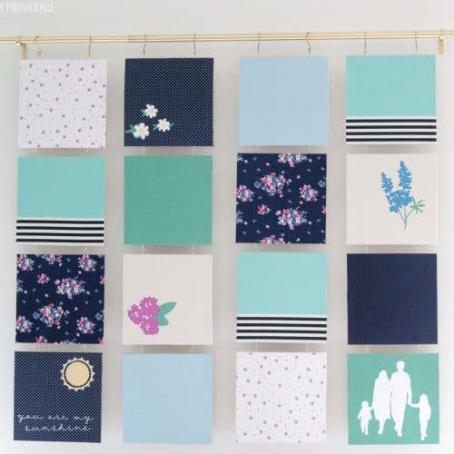 Modern Quilt – Fabric Wall Art