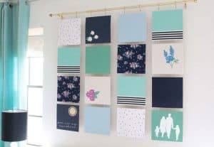 Fabric Wall Art - Modern Quilt